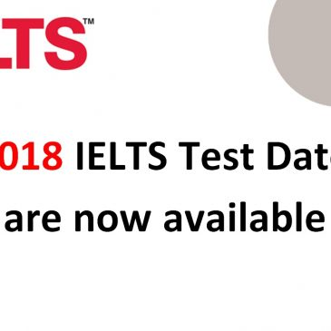 2018 IELTS test dates