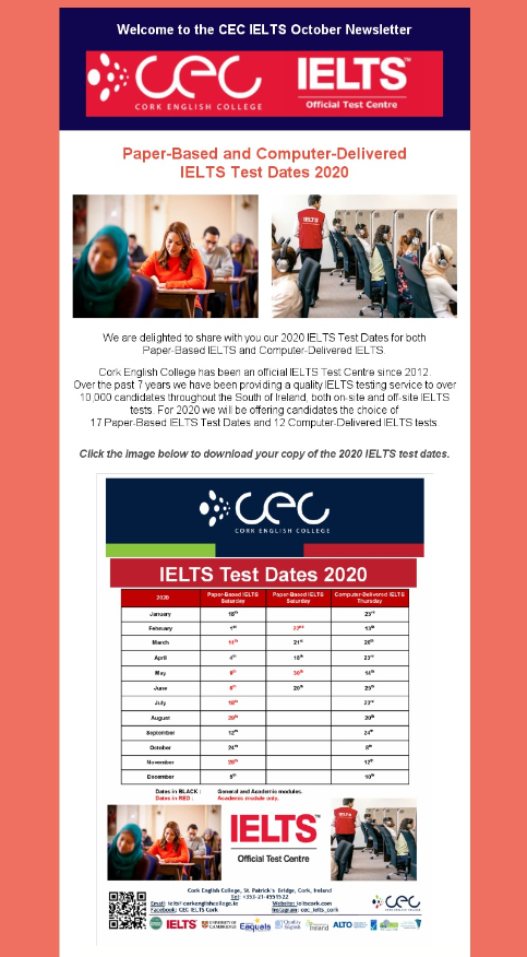 IELTS  Newsletter - October